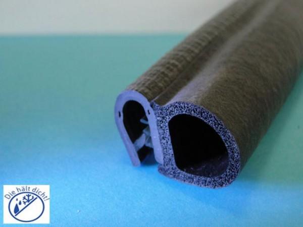 Hö: 14,5mm, Br: 21,9mm, Kl: 2-5mm Kantenschutz mit Metallklemmband