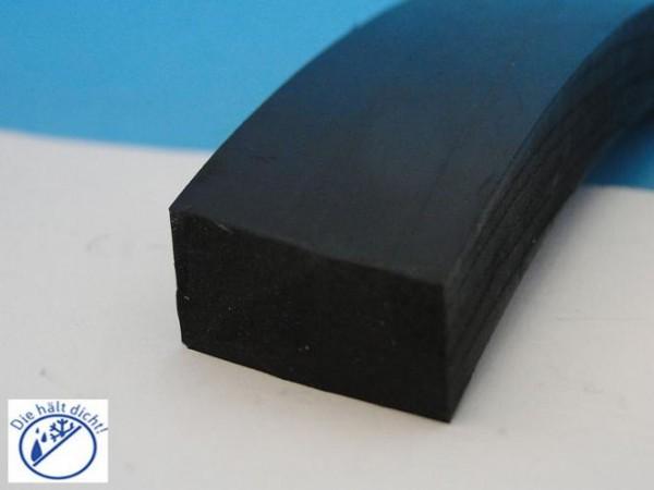 Vollgummi Rechteckstreifen Glauco nicht selbstklebend Höhe: 3 x Breite: 25 mm