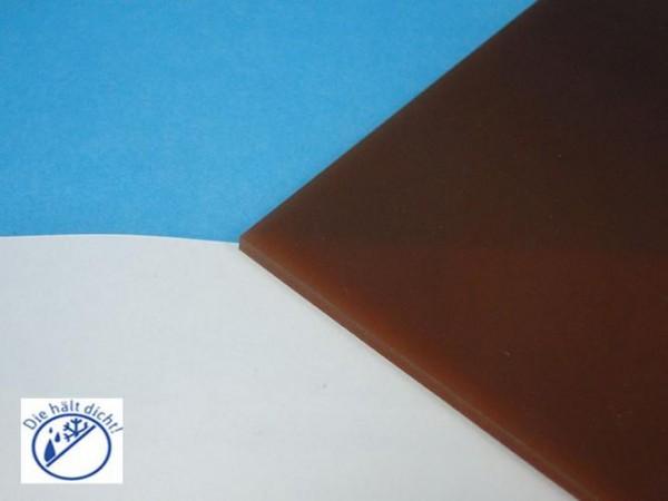 Polyurethanplatte 80° braun Natroa Höhe: 2mm
