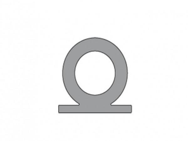 Cinza Hö: 17mm, Br: 18mm Silikon Hohlkammerprofil