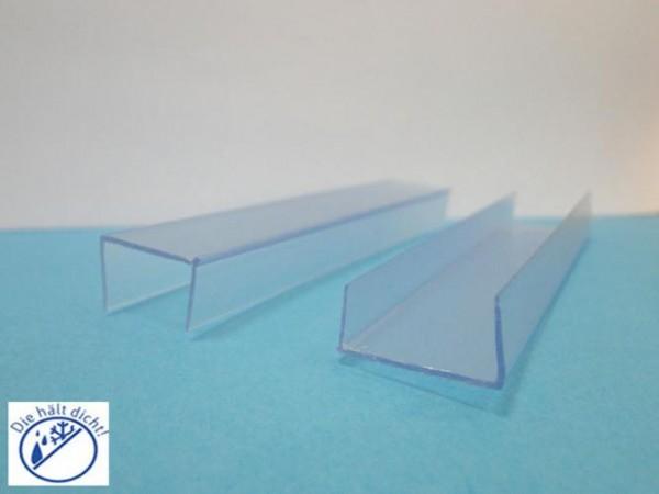 Glaskantenschutz Zokana transparent 18,5mm Klemmbereich