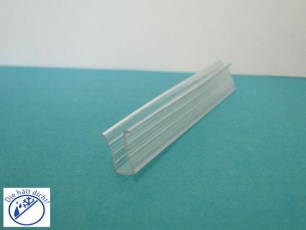 Hö: 11mm, Br: 7,5mm, Glas: 6mm Kappo U-Profil