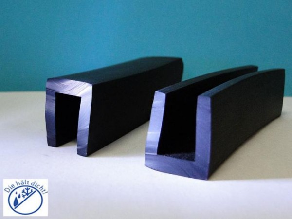 Gummi U-Profile Arcibaldo Höhe: 20 x Breite: 20 mm