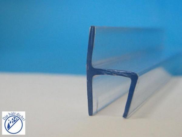 Frontanschlag Aufsteckdichtung Ninfea für 6mm Glasstärke