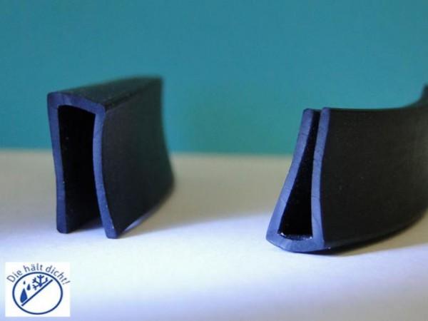 Gummi U-Profile Amedea Höhe:15 x Breite: 8 mm