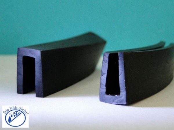 Gummi U-Profile Annibale Höhe: 17 x Breite: 12 mm