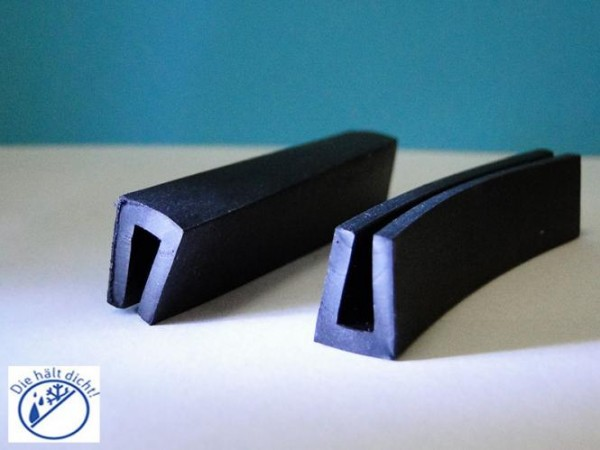 Gummi U-Profile Amnore Höhe:12 x Breite: 10 mm