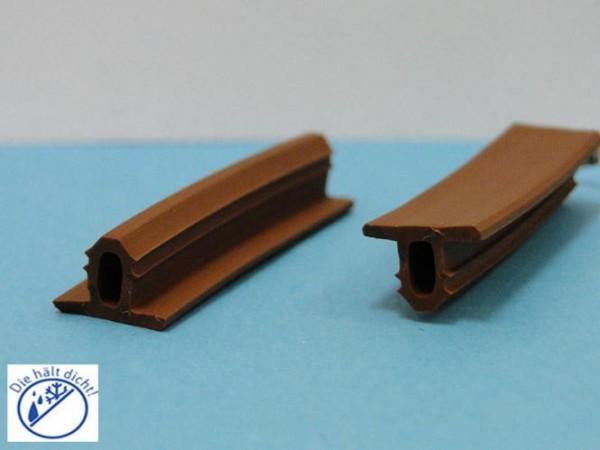 Treppengleitschutzprofil Zinola Hö: 9mm, Br: 13mm, Zapfenbreite: 6mm