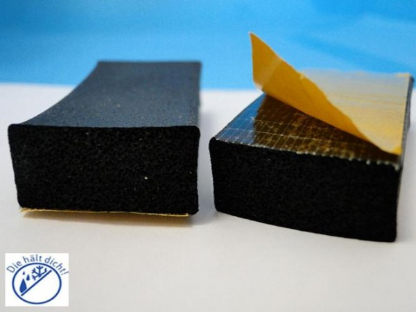 Moosgummi Rechteckstreifen Rolono einseitig selbstklebend Hö: 8 x Br: 10 mm