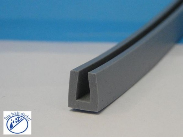 Bobora Hö: 10mm, Br: 10mm Silikon U-Profil