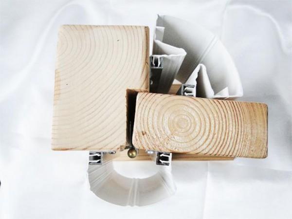 Fingerklemmschutz Jonas 1 (weiss) Länge: 1,98 Meter Kunststoffklemmleiste breit/breit