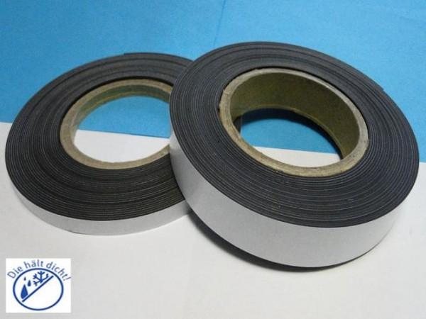 Magnetband Mugano Hö: 1mm, Br: 25mm einseitig selbstklebend