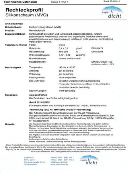 Hakona Hö: 30mm, Br: 30mm Silikonschaum selbstklebend