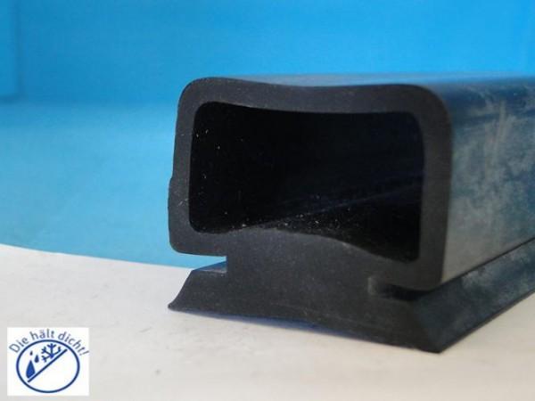 Gummi Rolltorprofil Consalvo Höhe: 35 mm, Fußbreite: 36 mm