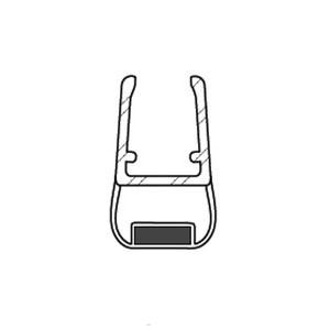 Duschkabinen Magnetdichtung Lazzaro für 6-8mm Glasstärke, NEU ! Chromoptik