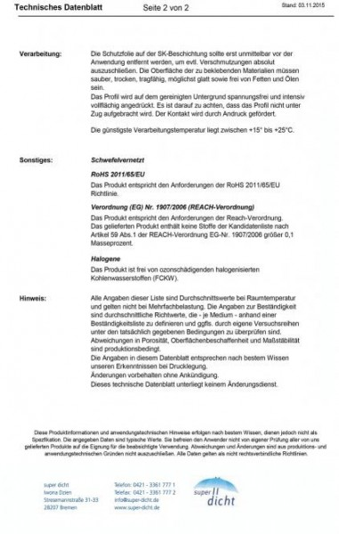 Lisanda Hö: 4mm, Br: 20mm, Zellkautschuk selbstklebend, schwarz
