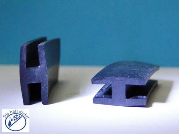 Leonata Hö: 16mm, Br: 8mm Gummi H-Profil