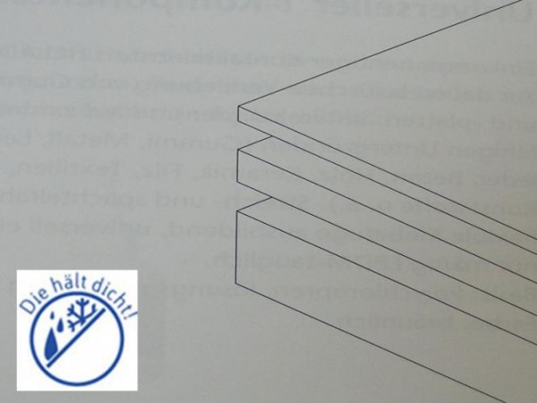 Silikonplatte 60° Höhe: 5mm Blanco