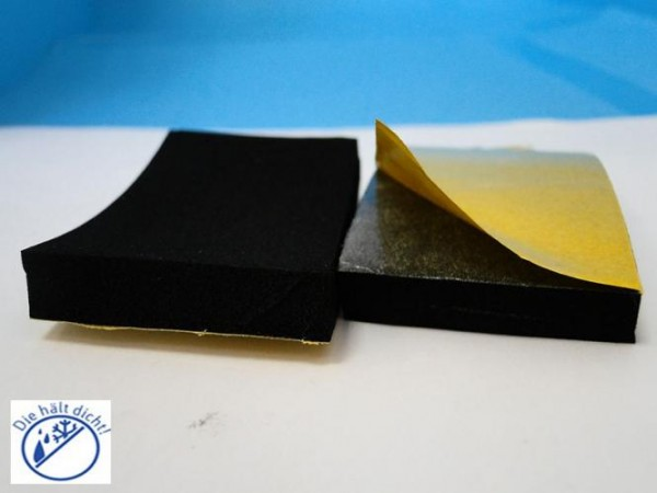 Lesna Hö: 4mm, Br: 10mm, Zellkautschuk selbstklebend, schwarz