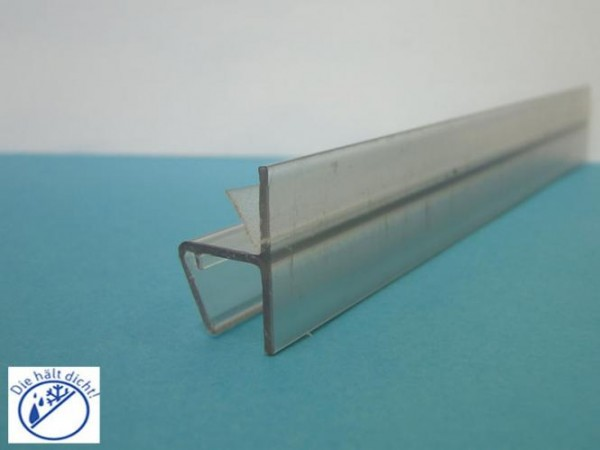 Frontanschlag Aufsteckdichtung Sigma für 6-8mm Glasstärke