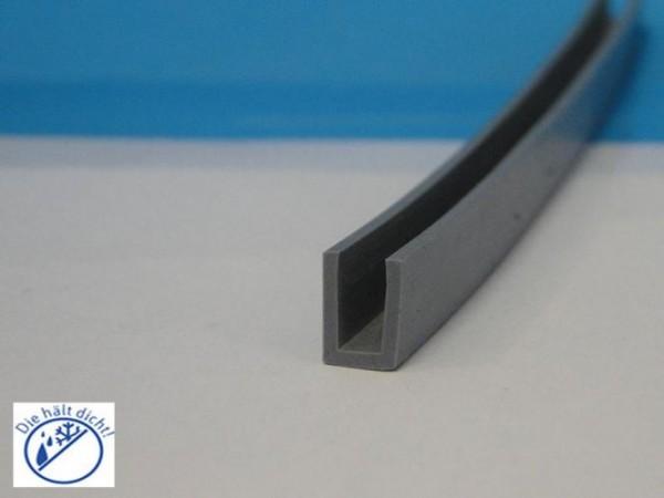 Pasalanda Hö: 6mm, Br: 4mm Silikon U-Profil