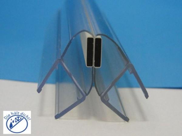 Duschkabinen Magnetdichtung Set Franco für 6-8 mm Glasstärke, Magnetprofil 90°
