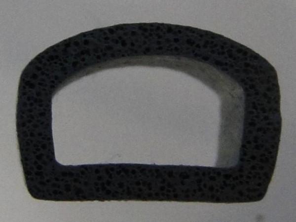 Tatina Hö: 7,5mm, Br: 10mm, Moosgummi Halbrundprofil