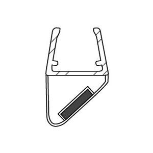 Duschkabinen Magnetdichtung Esana für 10-12 mm Glasstärke, Magnetdichtung 90°