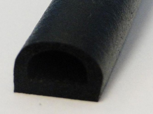 Taziano Hö: 10mm, Br: 12mm, Moosgummi Halbrundprofil