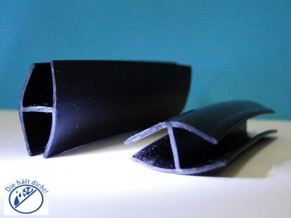 Bolera Hö: 22mm, Br: 11mm Gummi H-Profil