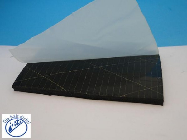Vollgummi Rechteckstreifen Allegra einseitig selbstklebend Höhe: 5 x Breite: 25 mm
