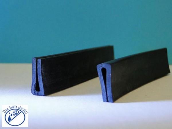 Gummi U-Profile Ampelio Höhe: 22 x Breite: 10 mm